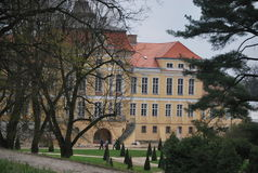 The front view of Baroque palace in Rogalin, Poland Stock Photo