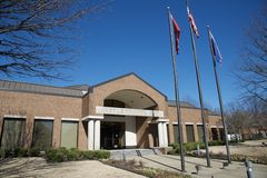 Front view of Bartlett Tennessee City Hall Annex royalty free stock images