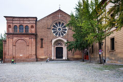 Front view of Basilica of San Domenico in Bologna Royalty Free Stock Image