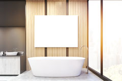 Front view of bathroom corner, poster, toned Stock Images