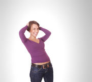 Front view of beauty and woman Stock Image