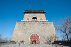 Front view of Beijing's ancient Bell Tower Royalty Free Stock Photography