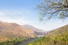 Front view of Bhumibol dam Tak,Thailand. Stock Photos