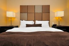 Front view of big bed Stock Photography
