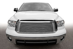 Front view of a big car. Front view of a big nameless car Royalty Free Stock Images