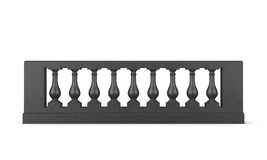 Front view black balustrade isolated. 3d rendering Stock Photo