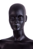 Front view of a black mannequin dummy Royalty Free Stock Image