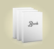 Front view of blank book Royalty Free Stock Image