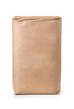 Front view of blank brown paper bag Royalty Free Stock Photos