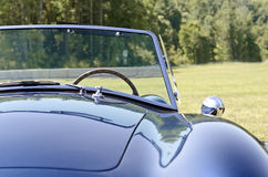 Front view blue convertible sports car Royalty Free Stock Photography