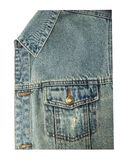 Front view of blue jeans pocket Stock Images