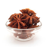 Front view of Bowl of Star anise. Royalty Free Stock Images
