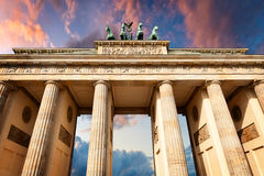 Front View of Brandenburg Gate Stock Photo