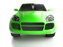 Front view of bright green crossover Royalty Free Stock Photo