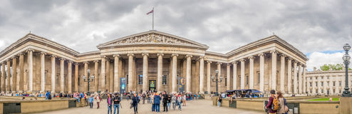 Front view of British museum building Stock Image