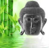 Front view of Buddha's face. Stock Photos