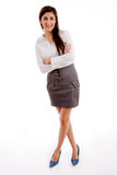 Front view of businesswoman posing Stock Photo