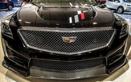 Front View Of Cadillac 2019 CTS en Detroit Michigan fotos de archivo libres de regalías