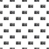 Front view camera pattern. Seamless repeat in cartoon style vector illustration Royalty Free Stock Image