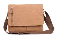 Front view of canvas shoulder bag Royalty Free Stock Photos