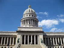 Front view of Capitolio. In Havana Cuba Royalty Free Stock Photos