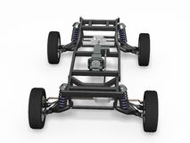 Front view car chassis. On white Royalty Free Stock Image