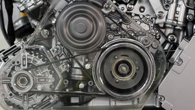 Front view car engine stock footage