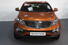 Front view on car Sportage Stock Photo
