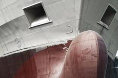 Front view of a cargo ship Stock Photos