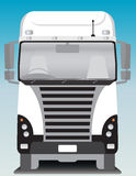 Front view of Cargo truck Stock Image