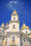 Front view the Cathedral of Dormition Pochayiv Lavra. Royalty Free Stock Images