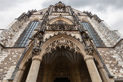 Front view of Cathedral of St Peter and Paul, Brno Royalty Free Stock Photos