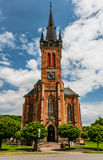 Front view of the cathedral in Vrchlabi, Czech republic Stock Photo