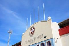 Centenary Stadium, Malta. Front view of the Centenary Stadium, Attard, Malta, Europe Stock Photo