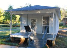 Front view of childhood home of  Elvis Presley. Elvis Presley childhood home  in  Tupelo, Mississippi Stock Photos