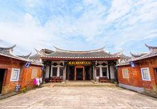 Front view of a chinese temple Royalty Free Stock Photography