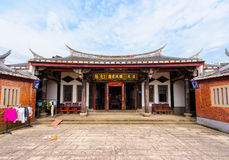 Front view of a chinese temple Stock Photography