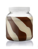 Front view of chocolate spread jar Stock Photos