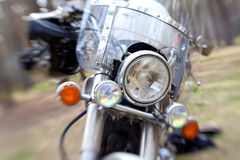 Front view of the chopper with artistic blur Royalty Free Stock Photo