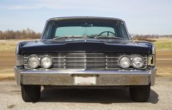 Front View of Classic Antique Lincoln Continental Stock Images