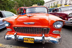 Front view of a classic Chevrolet in Havana Royalty Free Stock Photos