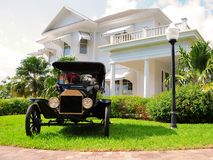 Front view of classic Ford horseless carriage Royalty Free Stock Images