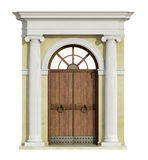 Front view of a classic portal in ionic order Royalty Free Stock Photo