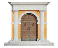 Front view of a classic portal in tuscany order Royalty Free Stock Photo