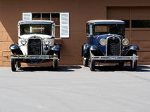 Front View of Classic Sedans Stock Photography