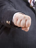 Front view of clenched fist of businessman Royalty Free Stock Photography