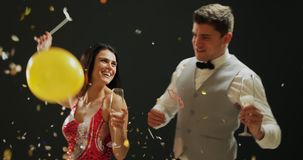 Young couple dancing stock video footage