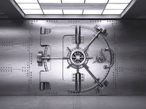 Front view of Closed Bank Vault Door Royalty Free Stock Images