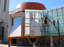 Front view of College Football Hall of Fame building Atlanta Royalty Free Stock Photography