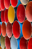 Front view of colorful oil tank . Stock Photography